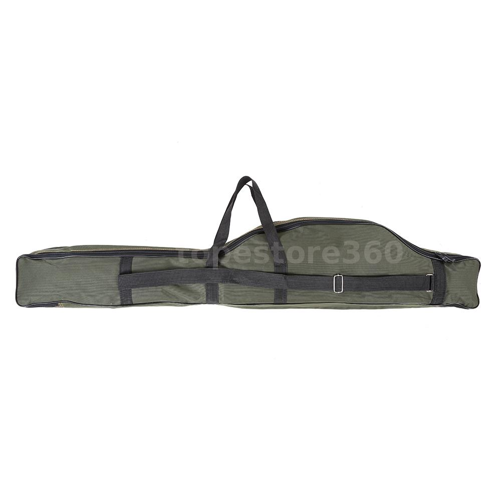 Portable Folding Fishing Rod Carrier Canvas Pole Tools
